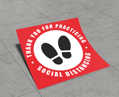 Social Distancing Floor Graphics