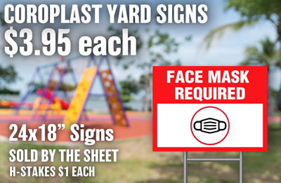 Face Mask Required Coroplast Signs