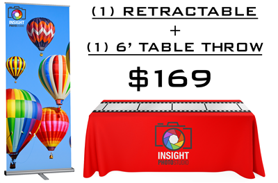 Trade Show Kit | Logo Table Throw and Retractable